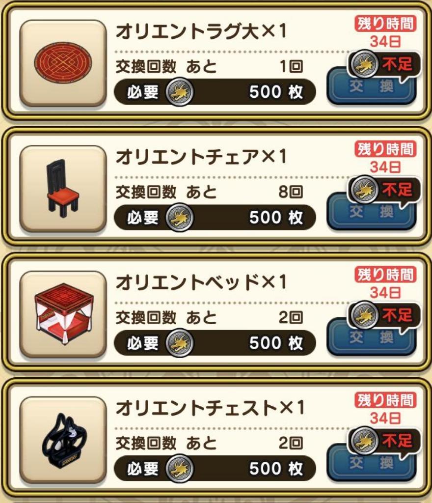 試練の扉メダル報酬